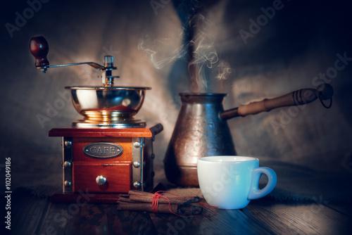Café en grains Coffee with cinnamon