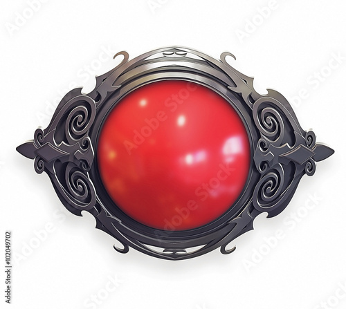 Valokuvatapetti Ornamental baroque Emblem