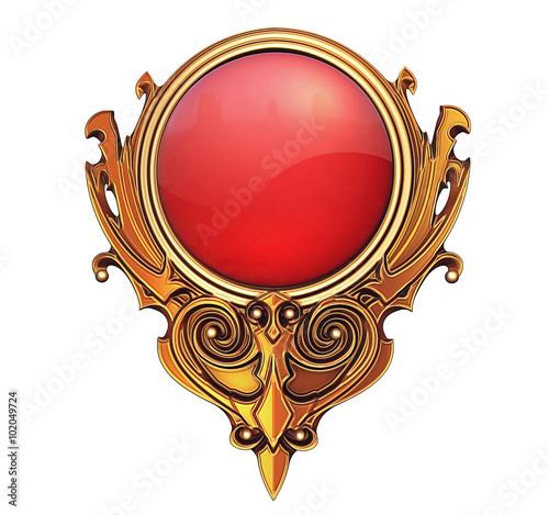 Fényképezés  Golden Emblem Buttton