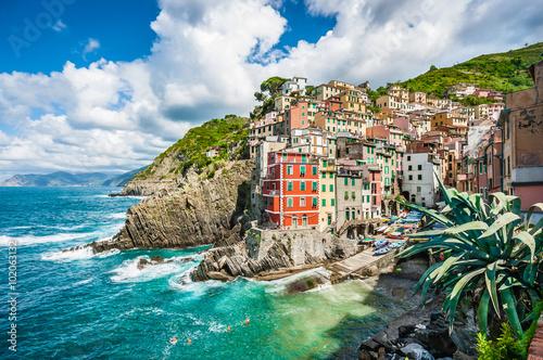 Fototapety, obrazy: Riomaggiore, Cinque Terre, Liguria, Italy