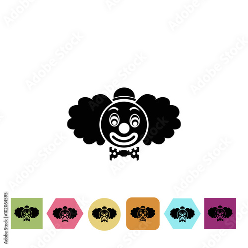 Printed kitchen splashbacks Clown icon