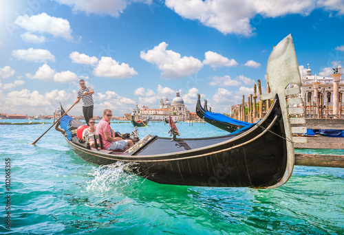 Photo sur Toile Gondoles Gondola on Canal Grande in Venice, Italy