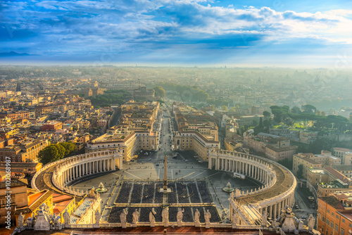 Poster Rome Rome sunrise view, Italy.