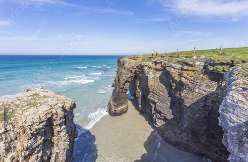 cathedrals beach in Lugo,Spain