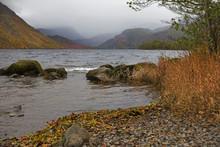 Autumn Landscape With Loch Tay Near Killin,