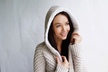 Attractive Young Woman With Sweater