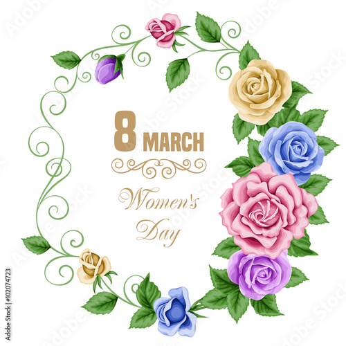 Poster Fleur Womens day card