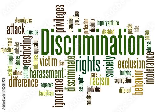 Fotografia, Obraz  Discrimination, word cloud concept 3