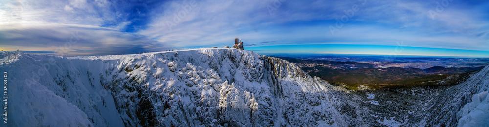 Fototapety, obrazy: Panorama krajobraz górski zima Śnieżne Kotły