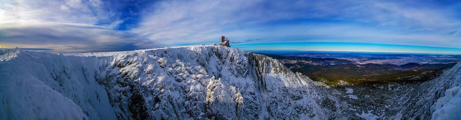 Panorama krajobraz górski zima Śnieżne Kotły