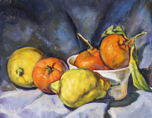 Obraz oil painting on canvas of a composition of fruit