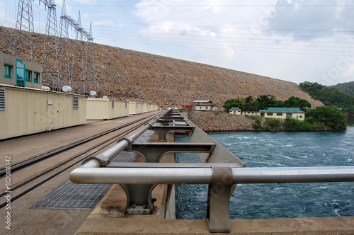 Poster Barrage The Dam. / The modern dam in Africa.