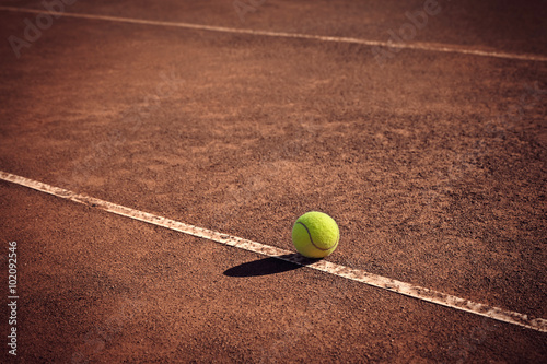 tennis ball on the line Wallpaper Mural