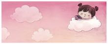 Niña Soñando En Un Nube