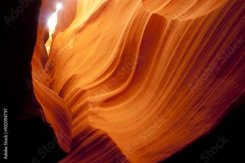 Fotografie, Obraz  Slot Canyon pískovcové skále geologie Desert Southwest Arizona USA