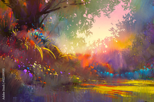 colorful landscape painting