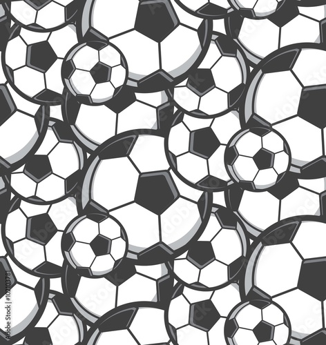 Cotton fabric football seamless pattern
