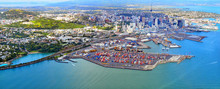 Aerial View Of  Auckland Finan...