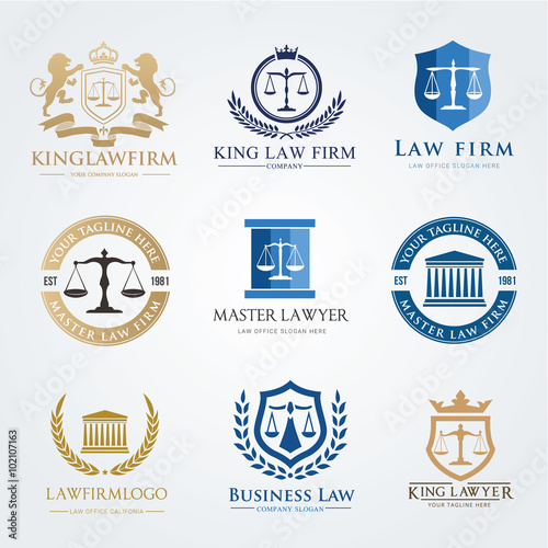 Law Firm Vector logo template - Buy this stock vector and explore ...