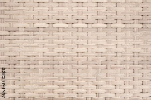 Fotografía  weave wicker pattern background