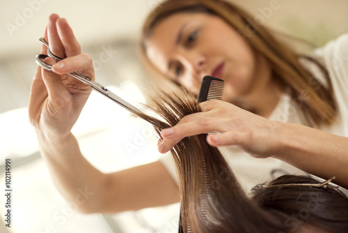 Fotobehang Kapsalon Hair cutting
