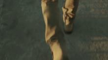 Man Walks Down Close-up Of Feet
