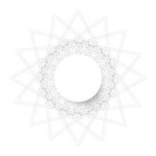 Symmetrical Circle. Guilloche ...