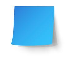 Light Blue Sticky Note, Post-it. Vector Illustration.