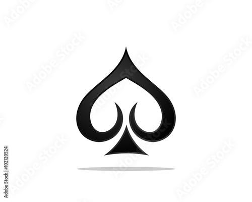Vászonkép Spades Poker Logo
