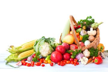 Fresh vegetable isolated.