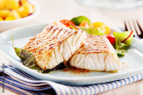 Papiers peints Poisson Delicious fillets of pollock or coalfish