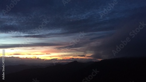 Time-lapse video of sunset from Doi Pui view point near Wat Phrathat Doi Suthep Canvas Print