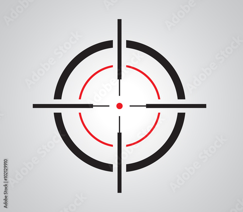Fotomural  Crosshair, reticle, viewfinder, target graphics