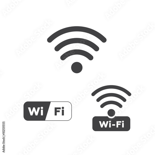 Fotomural  wifi icon on white background