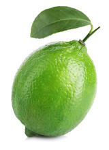 Lime. Whole Lime With Leaf Iso...