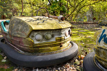 Chernobyl Bumper Cars In Amusement Park - Pripyat