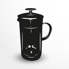 Teapot. Vector Illustration. B...