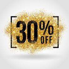 Gold Sale 30% Percent