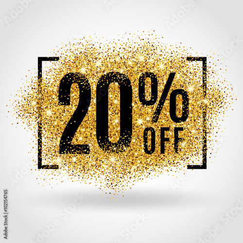 Photo  Gold sale 20% percent