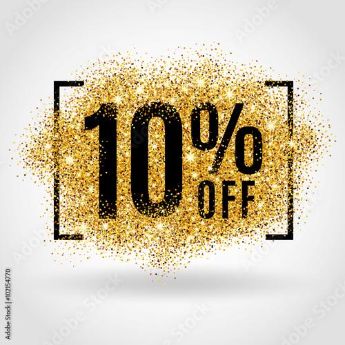 Photo  Gold sale 10% percent
