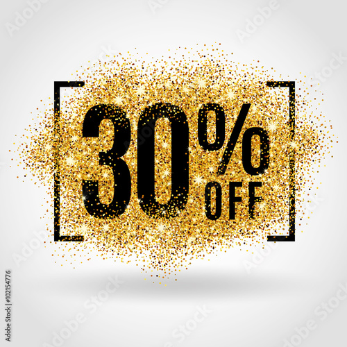 Poster  Gold sale 30% percent