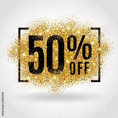 Gold sale 50% percent Poster Mural XXL