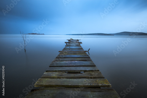 Photo  old wooden pier