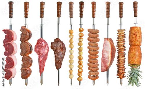 Foto  Brazilian cuisine grilled