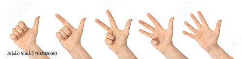 Photographie Counting hands (1 to 5)