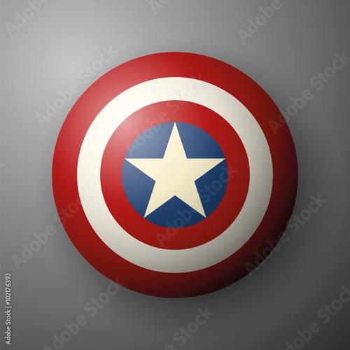 Shield with a star, superhero shield, comics shield