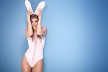 Lovely Sensual Girl In Bunny E...