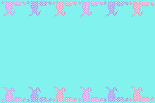 Easter Border With Dots Patter...