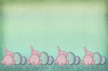 Vintage Easter Border With Dot...
