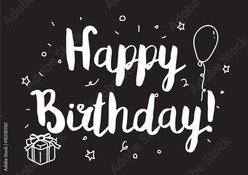 Photo  Happy birthday inscription